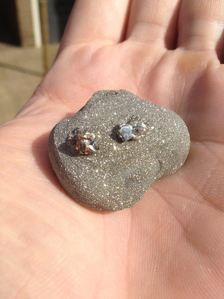 Een van de vele gevonden pyrietknollen uit Winterswijk