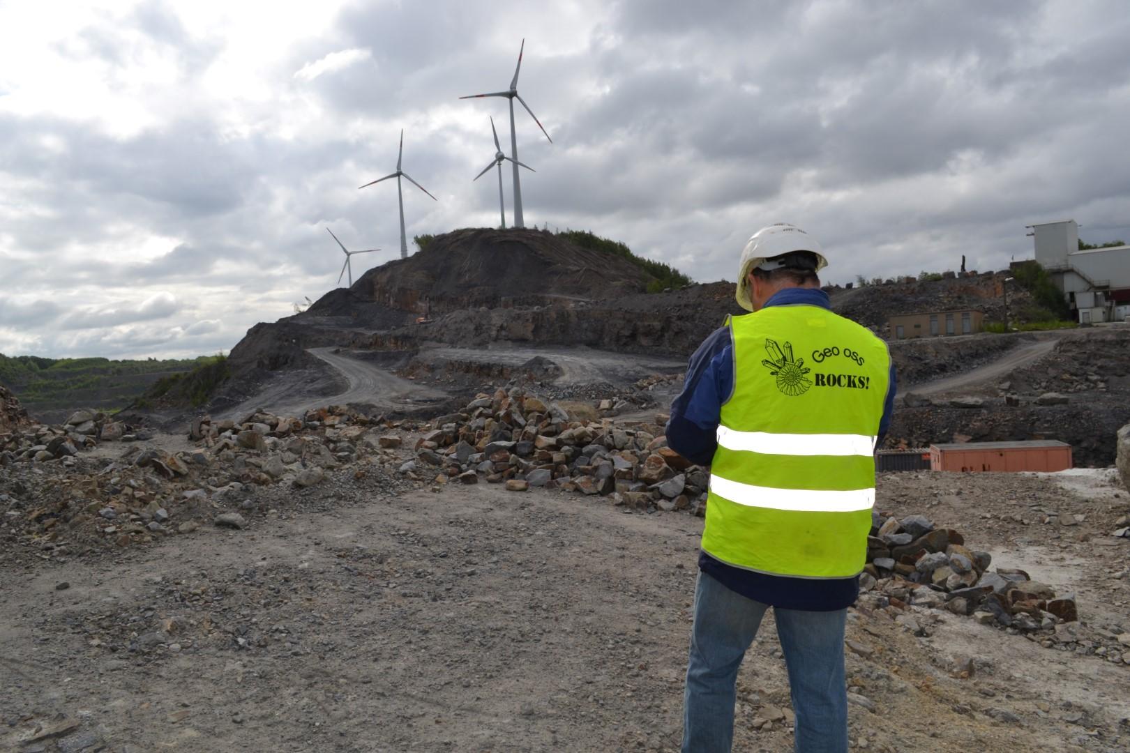 Geo Oss donateur in de groeve Piesberg te Duitsland.