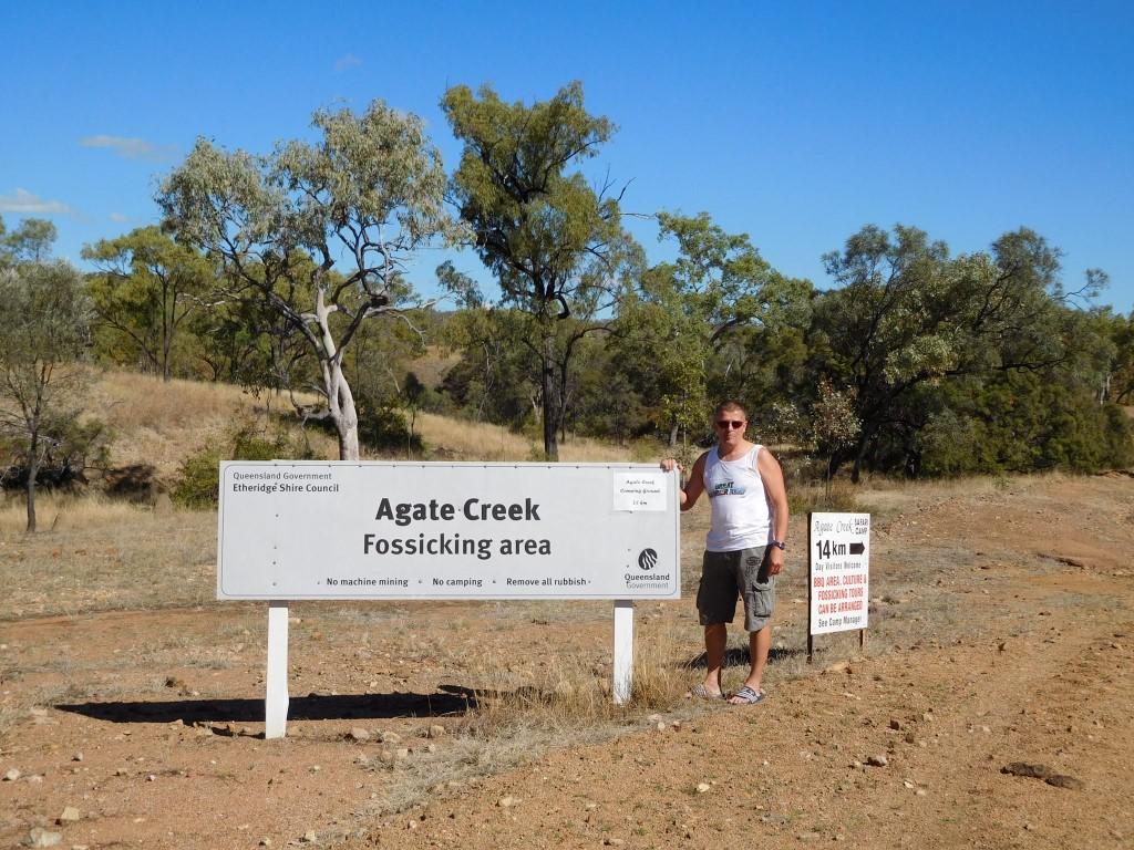 Henk Jacobs in Australië bij Agate Creek