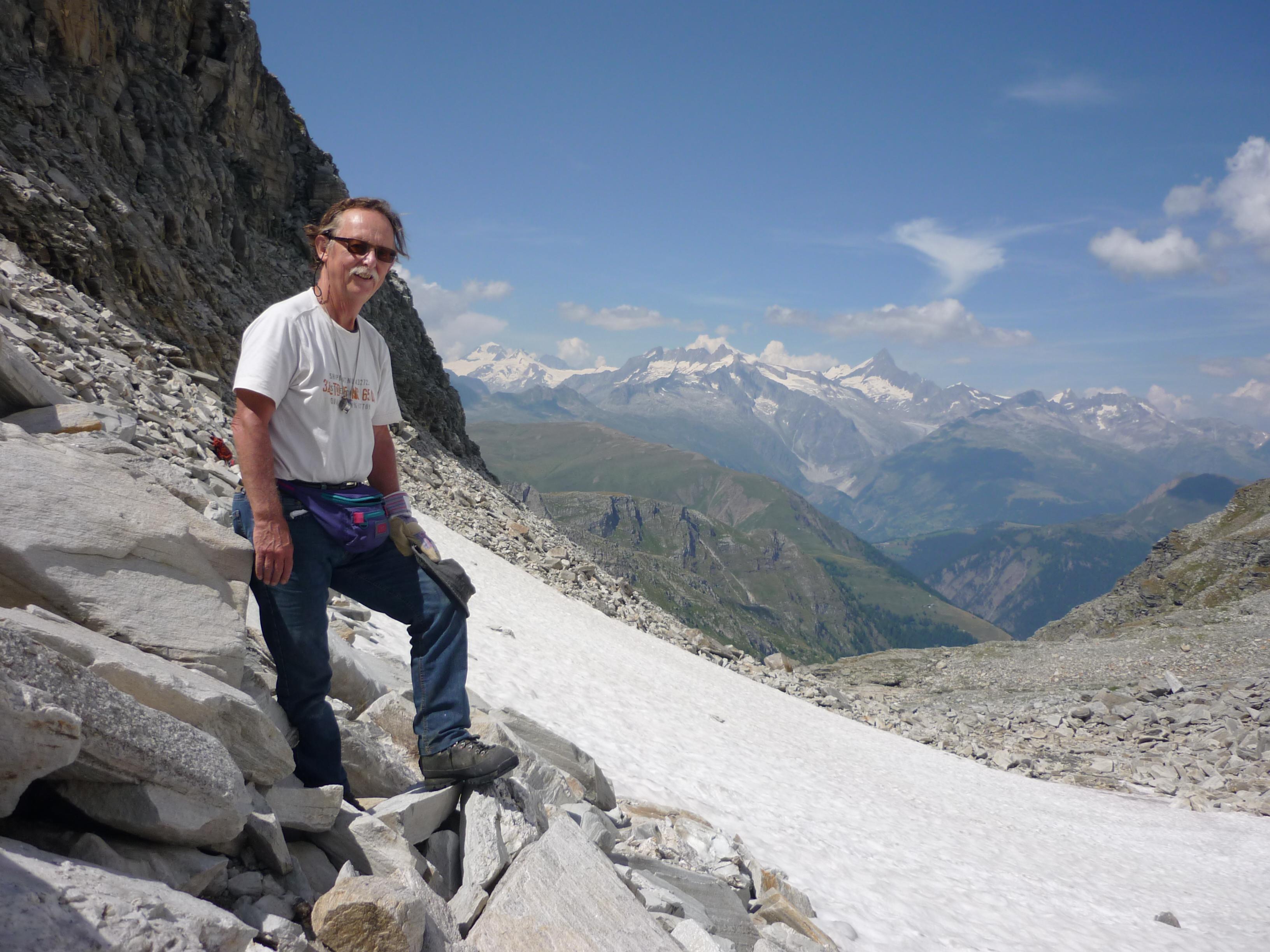 Paul Mestrom in het Binntal in Zwitserland