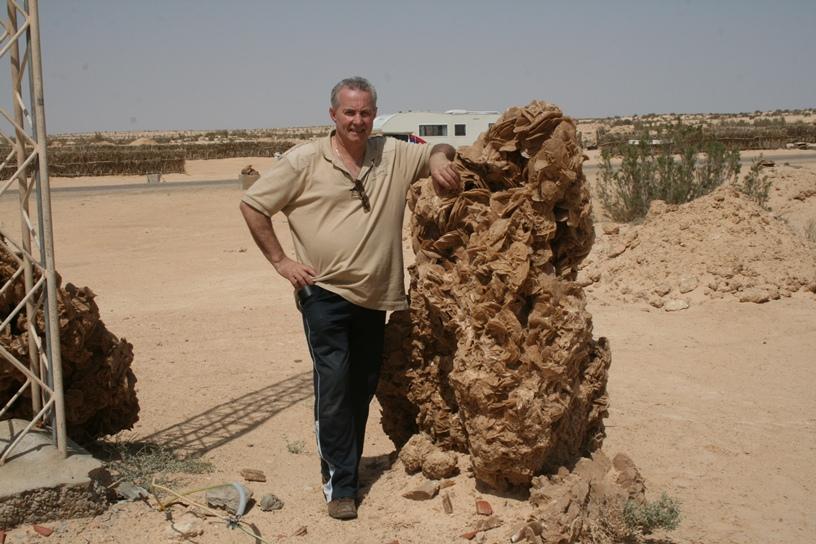 Leo Engelen in Tunesië, Redjim Maatoug in 2011 bij een grote woestijnroos